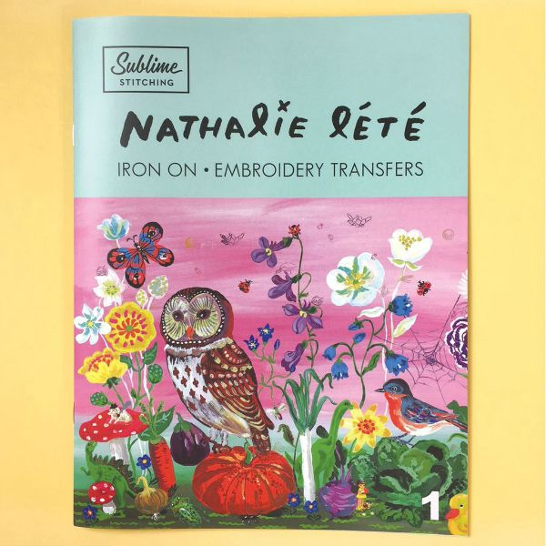 Sublime Stitching Nathalie Lete Embroidery Transfer Portfolio Book from Sublime Stitching