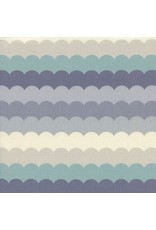 PD's Cotton + Steel Collection Panorama, Scallops in Arctic Unbleached Cotton, Dinner Napkin