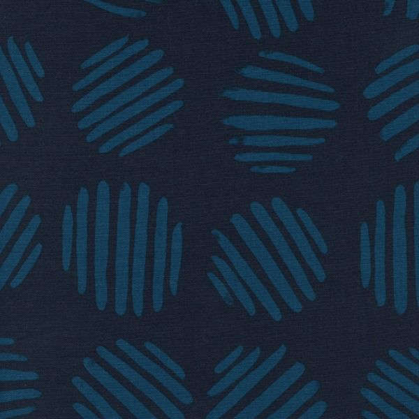 PD's Cotton + Steel Collection Panorama, Coin Dots in Deep Sea Unbleached Cotton, Dinner Napkin