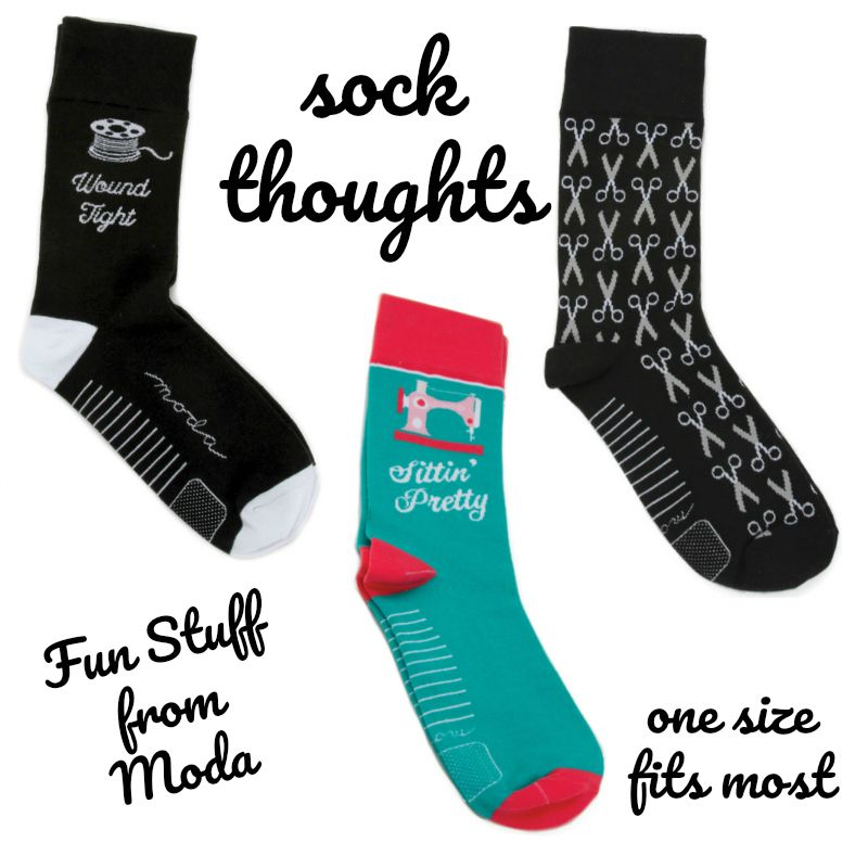 Socks Thoughts for Sewists, from Moda