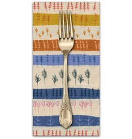 PD's Cotton + Steel Collection Firelight, Herb Garden in Natural Unbleached Cotton, Dinner Napkin