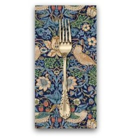 PD's William Morris Collection Morris & Co., Kelmscott Strawberry Thief in Navy, Dinner Napkin
