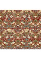 William Morris & Co. Morris & Co., Kelmscott Strawberry Thief in Red, Fabric Half-Yards PWWM001