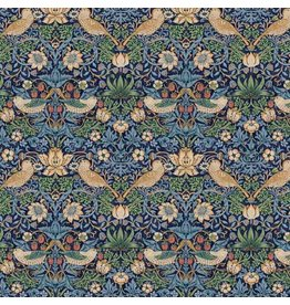 William Morris & Co. Morris & Co., Kelmscott Strawberry Thief in Navy, Fabric Half-Yards PWWM001