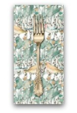 PD's Shell Rummel Collection Bloom Beautiful, Secret Garden in Sage, Dinner Napkin