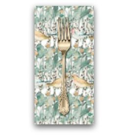 PD's Shell Rummel Collection Bloom Beautiful, Secret Garden in Sage, Dinner Napkin