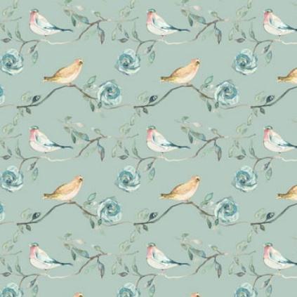 Shell Rummel Bloom Beautiful, Birdsong in Sage, Fabric Half-Yards PWSR017