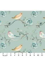 PD's Shell Rummel Collection Bloom Beautiful, Birdsong in Sage, Dinner Napkin