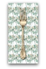 PD's Shell Rummel Collection Bloom Beautiful, Rosebuds in Sage, Dinner Napkin