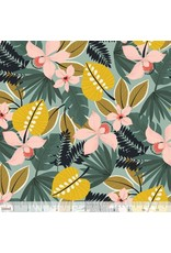 PD's Blend Fabrics Collection Leilani, Hibiscus in Blue, Dinner Napkin