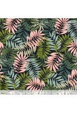 Maude Asbury Leilani, Fern in Black, Fabric Half-Yards 101.137.03.1