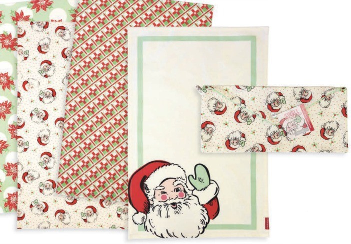 "Moda ""Swell Christmas"" Tea Towels from Moda -Set of 4"
