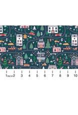 Dear Stella Waiting for Santa, Christmas Eve in Multi, Fabric Half-Yards 1011