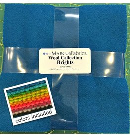 "Marcus Fabrics Wool Collection in Bright - bundle contails (12) 10"" squares"