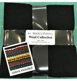 "Marcus Fabrics Wool Collection in Warm - bundle contails (20) 10"" squares"