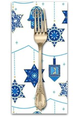 PD's Michael Miller Collection Festival of Lights, Peace, Love and Light for Hannukah in Starlight, Dinner Napkin