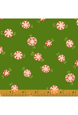 PD's Heather Ross Collection Sugarplum, Peppermints in Green, Dinner Napkin