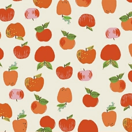 Heather Ross Kinder, Apples in Red, Fabric Half-Yards 43483