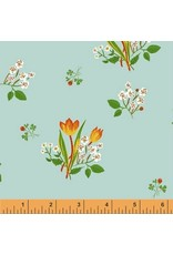 Heather Ross Kinder, Spring Blooms in Pale Blue, Fabric Half-Yards 43482