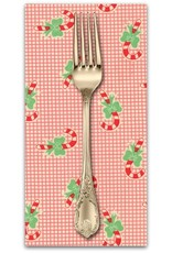 PD's Moda Collection Swell Christmas, Candy Canes in Red, Dinner Napkin