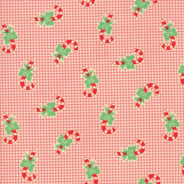 Moda Swell Christmas, Candy Canes in Red, Fabric Half-Yards 31124 12