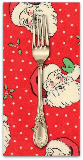 PD's Moda Collection Swell Christmas, Santas in Red, Dinner Napkin