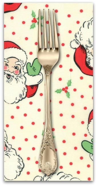 PD's Moda Collection Swell Christmas, Santas in Cream, Dinner Napkin