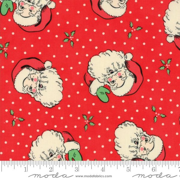 Moda Swell Christmas, Santas in Red, Fabric Half-Yards 31120 13