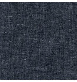 Robert Kaufman House of Denim Cotton Linen Chambray 5oz. in Indigo Washed,  Fabric Half-Yards C339-1467