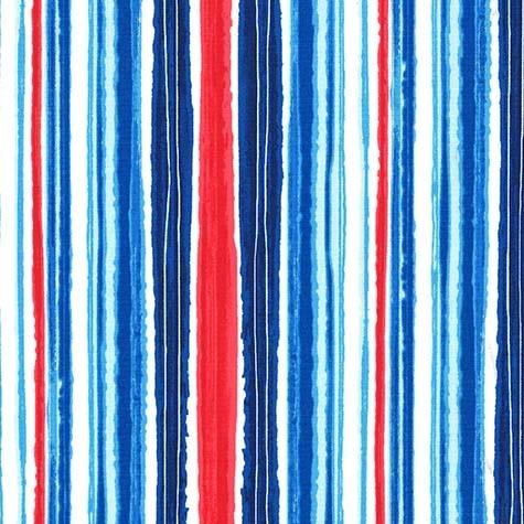 Michael Miller Just Shellin, Cabana Stripe in Cabana, Fabric Half-Yards DC8173