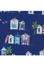 Michael Miller Just Shellin, Seas The Day in Royal, Fabric Half-Yards DC8174