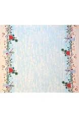 Michael Miller Just Shellin, Seaside Border in Blue, Fabric Half-Yards DC7828