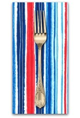PD's Michael Miller Collection Just Shellin, Cabana Stripe in Cabana, Dinner Napkin