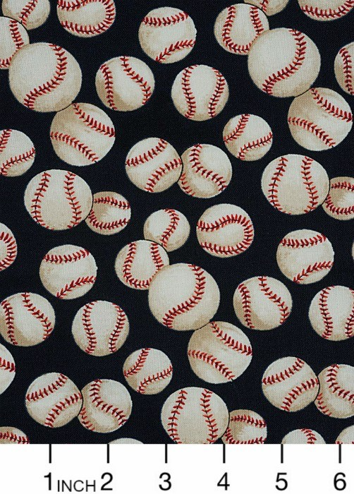 PD's Alexander Henry Collection Nicole's Prints, Baseball in Navy, Dinner Napkin