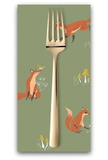 PD's Rae Ritchie Collection Camp Wander, Fox in Aloe, Dinner Napkin