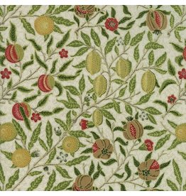 William Morris & Co. Morris Holiday, 1866 Fruit in Linen with Metallic, Fabric Half-Yards 7312 11M