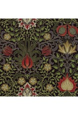 William Morris & Co. Morris Holiday, 1904 Persian in Ebony with Metallic, Fabric Half-Yards 7311 13M