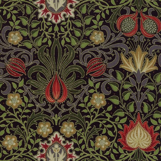 PD's William Morris Collection Morris Holiday, 1904 Persian in Ebony, Dinner Napkin