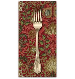 PD's William Morris Collection Morris Holiday, 1904 Persian in Crimson, Dinner Napkin
