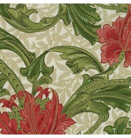 William Morris & Co. Morris Holiday, 1905 Single Stem in Linen with Metallic, Fabric Half-Yards 7310 11M