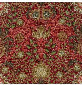 William Morris & Co. Morris Holiday, 1904 Persian in Crimson with Metallic, Fabric Half-Yards 7311 14M