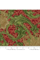William Morris & Co. Morris Holiday, 1905 Single Stem in Crimson with Metallic, Fabric Half-Yards 7310 14M