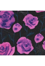 PD's Cotton + Steel Collection Eclipse, Roses in Black, Dinner Napkin