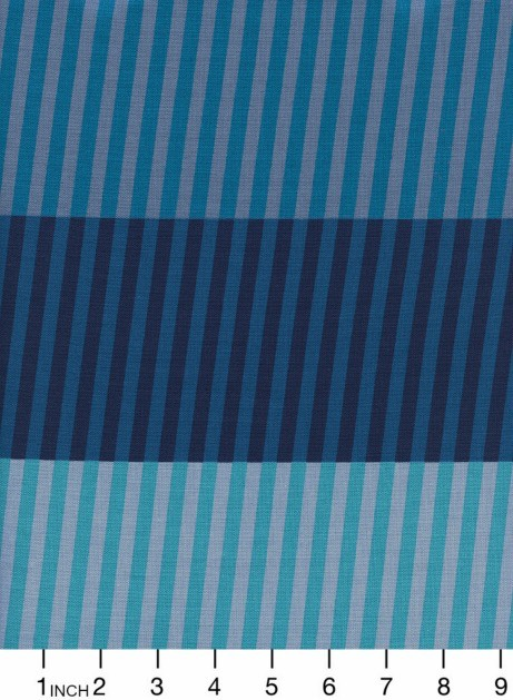 PD's Cotton + Steel Collection Eclipse, Party Stripes in Blue, Dinner Napkin