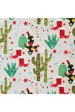 Alexander Henry Fabrics Christmas Time, Cactus Christmas in Stone, Fabric Half-Yards 8674C
