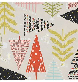 Alexander Henry Fabrics Christmas Time, Holiday Pines in Sand, Fabric Half-Yards 8634C