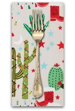 PD's Alexander Henry Collection Christmas Time, Cactus Christmas in Stone, Dinner Napkin