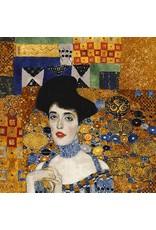 "Robert Kaufman Gustav Klimt, Portrait Of Adele Bloch Bauer 1, Panel in Gold, 24"" Fabric Panel"