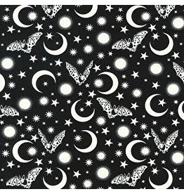 Tula Pink De La Luna, Batty in Spirit, Fabric Half-Yards PWTP114