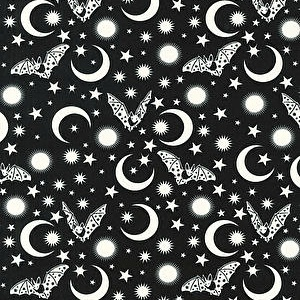 Tula Pink De La Luna, Batty in Spirit, Fabric Half-Yards PWTP114